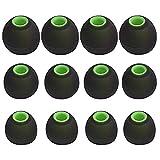 SUNMNS 6 pares de almohadillas de silicona para los oídos, compatibles con Senso Zeus Otium Hussar Mpow Sport Bluetooth auriculares