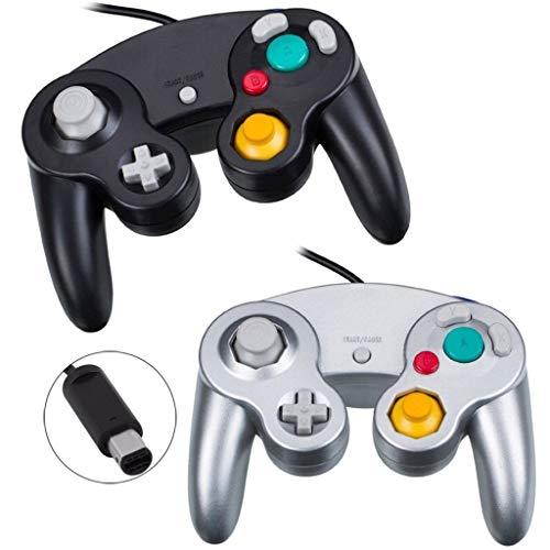 YFish Controladores para Gamecube&Wii, [2 Pack] Mando de Gamecube con Cable 1.4M...
