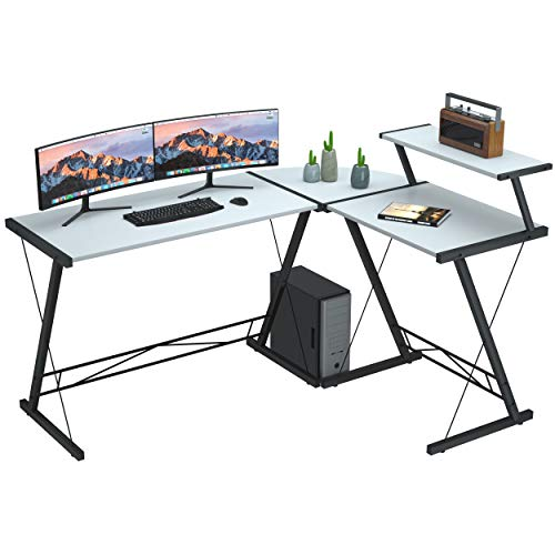 Extra Large L Shaped Desk L Desk Gaming Computer Corner Desk