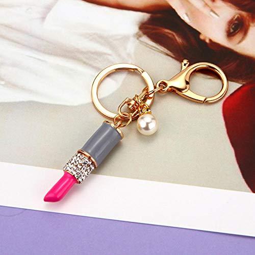 Sleutelhanger dames schattige lippenstift vrouwelijke tas hanger sleutelhanger ring mini lippenstift auto sleutelhanger vrouwelijk