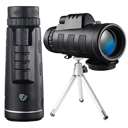 Monocular Telescope Scope with BAK4 Prism, Rotating Eye Mask, Multi-Green Coated Lens for Bird Watching