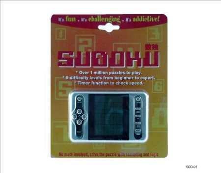 Sudoku Sodoku Su Doku Suduko Elektronische Puzzel - 5 Niveaus met 1.000.000 verschillende Puzzels combinaties