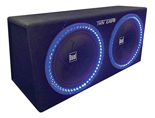 Dual Electronics SBX212i 12-inch illumiNITE High Performance Studio Enclosed Subwoofers with 1,200 Watts of Peak Power & 41-Ounce Magnets