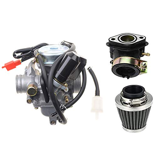 WOOSTAR PD24J Carburetor with 42mm Air Filter Intake Manifold Replacement...