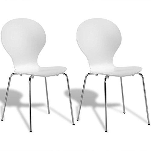 vidaXL Set Sedie da tavola Sala Cucina a Farfalla impilabili 2/4/6 Nere/Bianche
