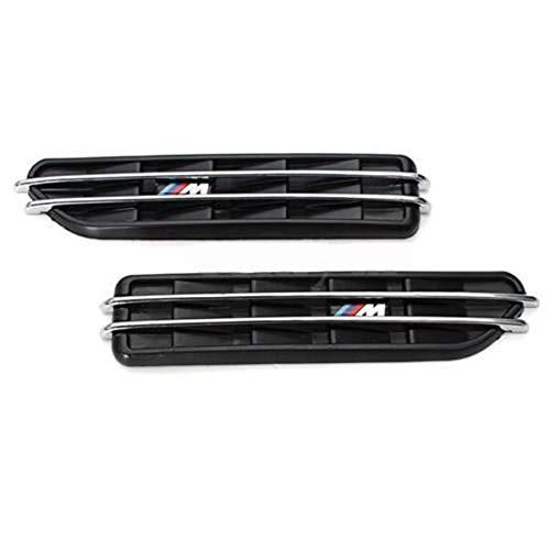 XLTWKK Auto Decorative Leaf Exhaust Outlet Car Air Flow Side Fender Vents Mesh Sticker Grille,For BMW E60 M5 E61 E39 E90 M3 E46