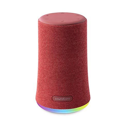 Anker Soundcore Flare Mini Bluetooth スピーカー 防水 重低音 360°サウンド 10W出力 大音量 ステレオペアリング IPX7 (レッド)