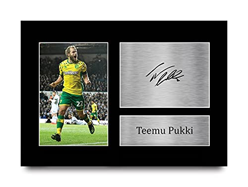 HWC Trading Teemu Pukki Norwich City Gifts Printed Signed Autograph Picture for Fans and Supporters - A4