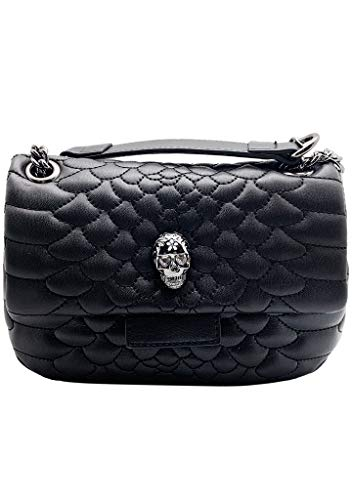 Betsey Johnson Heads Up Crossbody, Black