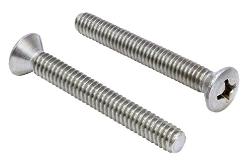 1/4''-20 X 1-1/4'' Stainless Phillips Oval Head Machine Screw, (25 pc), 18-8 (304) Stainless Steel, by Bolt Dropper
