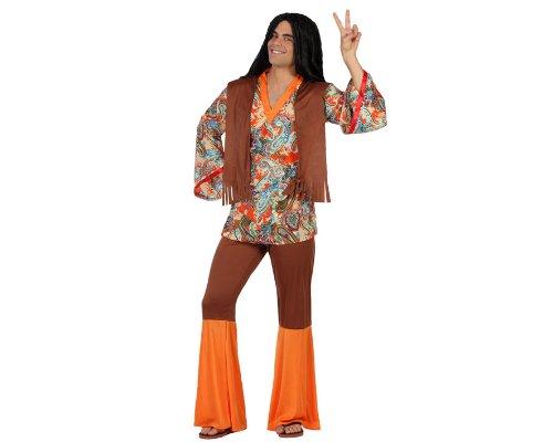 Atosa-22867 Disfraz Hippie, color naranja, XS-S (22867)