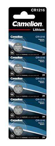 Camelion CR1216-BP5 - Nicht wiederaufladbare Batterien (Lithium, Button/Coin, CR1216, Edelstahl, Blister)