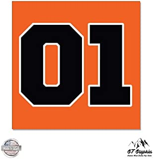 GT Graphics Dukes of Hazzard General Lee - Large Size Vinyl Sticker Decal - Outdoor Indoor Decor