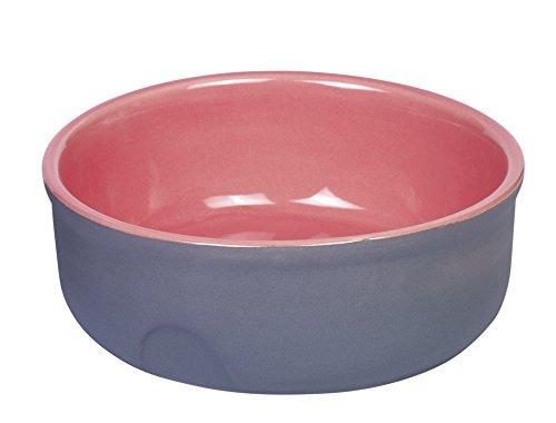 "Nobby Keramik Napf ""Feed"" grau/lachsfarben Ø 13 x 5 cm"