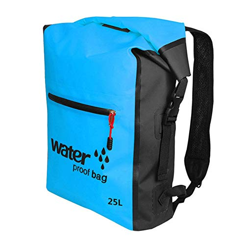 Bolsa seca impermeable mochila de natación 25L mochila para rafting al aire libre kayak boating drifting azul impermeable accesorios