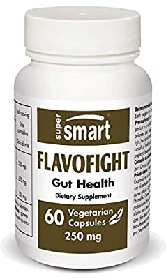 SUPERSMART - Flavo Fight 250 mg - Formulated from a Concentrate of Flavonoids Beneficial to Intestinal Flora & Microbiota Heatlh - Non-GMO - 60 Vegetarian Capsules