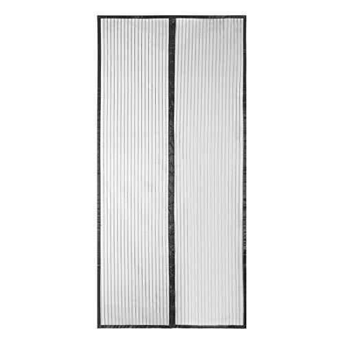 Sekey Zanzariera Magnetica per porta, anti insetti, per legno, ferro, porte in alluminio e balcone, Facile da installare, si Chiude da Sola, 230 x 130cm, Nero