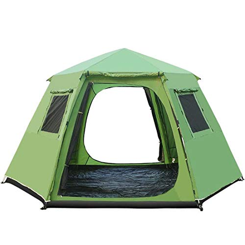SPFAZJ Tent5 8 Person Automatic Tent Outdoor Beach Party Tents Yurt Waterproof Double Layer Large Camping Family Tent Pergola,Green