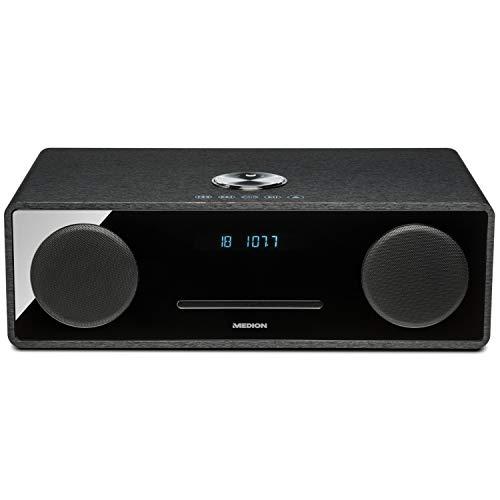 MEDION X64777 All-in-One Micro-Audio-System (Bluetooth, USB-Anschluss, 2X 25 Watt RMS Ausgangsleistung, UKW mit PLL-Tuner) schwarz