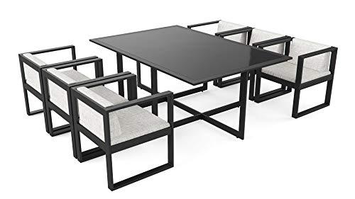 ARTELIA Ricardo Loungemöbel - Aluminium Premium Gartenmöbel Set für Terrasse, Garten und Wintergarten, Terrassenmöbel Anthrazit