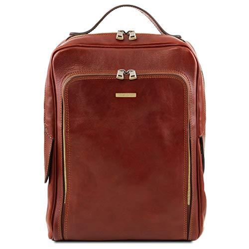 Tuscany Leather Bangkok Zaino porta notebook in pelle Marrone
