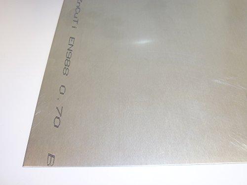 B&T Metall Titanzinkblech 0,70 mm stark Bedachungsblech ZnCuTi nach EN 988 im Zuschnitt