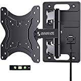 RV TV Wall Mount for Camper Full Motion Trailer Bracket with Lockable Articulating Arms for 23-43 Inch Flat Curved Screens up to 77 lbs VESA 200x200mm on Motor Home Truck Marine Boat