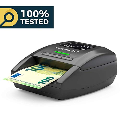 Detectalia D7X Detector de billetes falsos listo para los nuevos billetes de 100€ y 200€ y 100{ce312df9592bde68ea4040b30b6dcefeb509e10a28b678b4b3f39b33f60ed23c} de detección en pruebas oficiales del Banco Central Europeo
