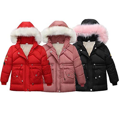 Dasongff kinderjack meisjes jongens baby kinderjack meisjes winterjas met capuchon bontkraag warm donsjack