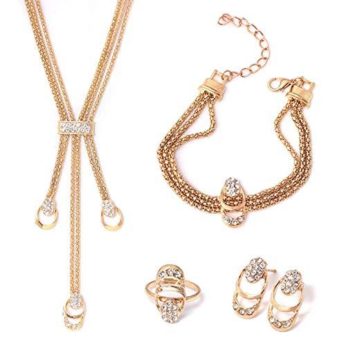 Ruby569y Pendientes colgantes para mujeres y niñas, pulseras de aleación cómoda con diamantes de imitación para banquetes