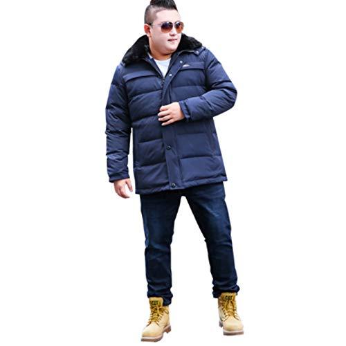 ZOSUO Herren Kurze Oversized Daunenjacke Pelzkragen Kapuze abnehmbar kältefest und warm gefüllt 90% Entendaunen Slim Fit Jacke geeignet für Herbst und Winter, 2XL