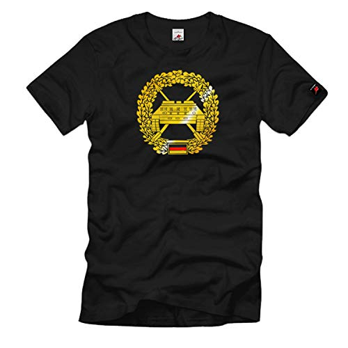 Barettabzeichen Panzerjäger Bundeswehr Einheit Wappen Emblem T Shirt #1106, Größe:XXL, Farbe:Schwarz