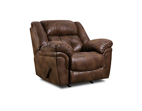 Lane Home Furnishings Wisconsin Beautyrest Rocker Recliner, Wisconsin Chocolate