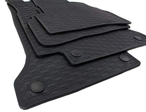 Kfzpremiumteile24 Gummimatten Kompatibel mit C-Klasse W205 S205 T-Modell Baujahr ab 02/2014 Premium Fußmatten Allwetter Schwarz 4-teilig