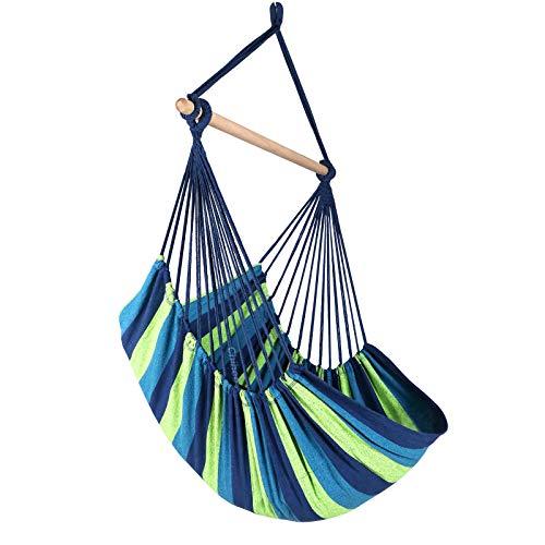Chihee Hängematte Stuhl Große Hängematte Stuhl Entspannung Hängesessel Baumwolle Weben für Höchsten Komfort und...