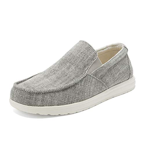 Bruno Marc Men's Grey Slip On Loafer Walking Shoes Stretch Sneakers SUNVENT-01 Size 10 M US