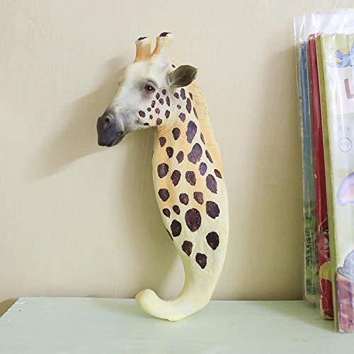 Verzamelobjecten Sculpturen Creatieve Hars Giraf Muurhaken Home Decor Ambachten Kamer Decoratie Objecten Kapstokken Kleding Herten Haken Hars Dieren Beeldjes