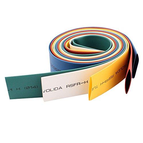 Aexit Ratio 2:1 Shaft Collars 14mm Dia Polyolefin Heat Shrinkable Tube Heat Shrinkable Shaft Collars 1.8Ft 5pcs