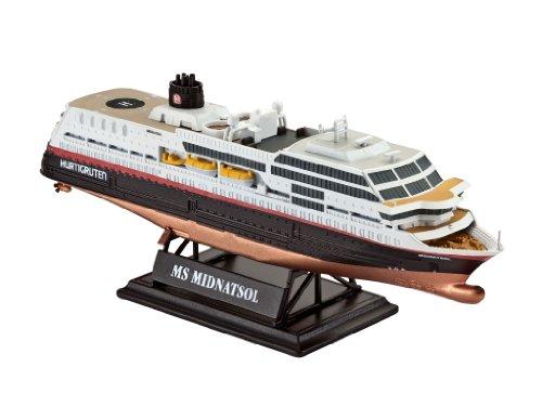 Revell Modellbausatz Schiff 1:1200 - MS Midnatsol im Maßstab 1:1200, Level 4, originalgetreue Nachbildung mit vielen Details, Kreuzfahrtschiff, 05817