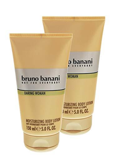 2 x Bruno Banani Daring Woman sanfter Duft Body Lotion je 150ml für Frauen