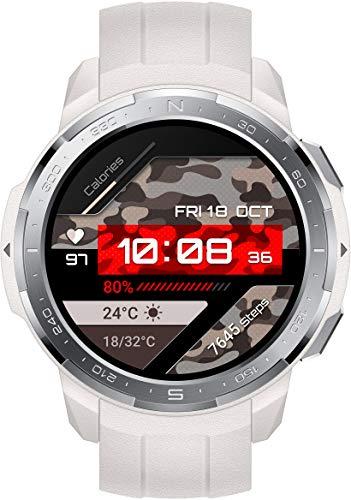 HONOR Watch GS Pro Smartwatch (35 mm AMOLED-Bildschirm, SpO2-Messung, Herzfrequenzmessung, Musik-Steuerung und Bluetooth Handyie, 50 m Wasserdicht, GPS) Weiß [Exklusiv+5 EUR Amazon Gutschein]