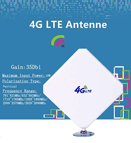 CRC9 4G Hochleistungs LTE Antenne 35dBi WiFi Signal Booster Verstärker Modem Adapter Netzwerk Empfänger Antenne mit hoher Reichweite für Mobile Hotspots (CRC9 Stecker Male)