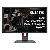 BenQ ZOWIE XL2411K 24 Zoll 144Hz Gaming Monitor/PS5 & XBOX 120fps @ 1080p/Schnelles TN Panel/DyAc/Black eQualizer/Color Vibrance