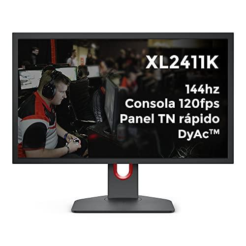 BenQ ZOWIE XL2411K Monitor de juegos de 24 pulgadas 144Hz/1080P/PS5 y XBOX 120fps/Panel TN rápido/DyAc/Black eQualizer/Color Vibrance