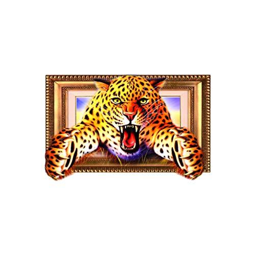 MINGXINGDE 3D Tier Leopard PVC Aufkleber Wandaufkleber Tapete Wohnzimmer Dekoration Wandtattoo 3D Wandbilder