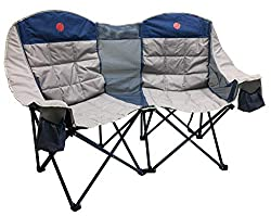 OmniCore Designs MoonPhase Home-Away LoveSeat Heavy Duty Oversized Folding Double Camp Chair Collection (Single, Double, Triple) (Double Loveseat)