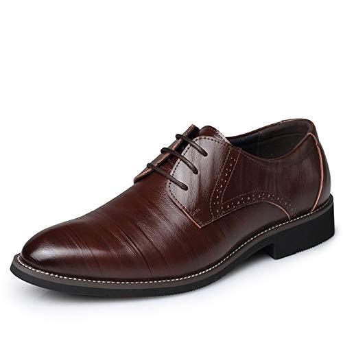 JINHONGH Merkmak Big Size 37-48 Oxfords Leder Herren Schuhe Art und Weise beiläufiger spitzer oberster Formaler Geschäfts-Mann Brautkleid Wohnungen Großhandel