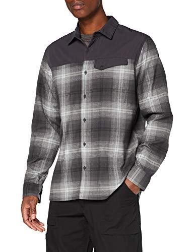 Lafuma - Arkhale Shirt M - Camicia a Maniche Lunghe - Uomo - Hiking, Trekking, Tutti i Giorni, Nero/Grigio