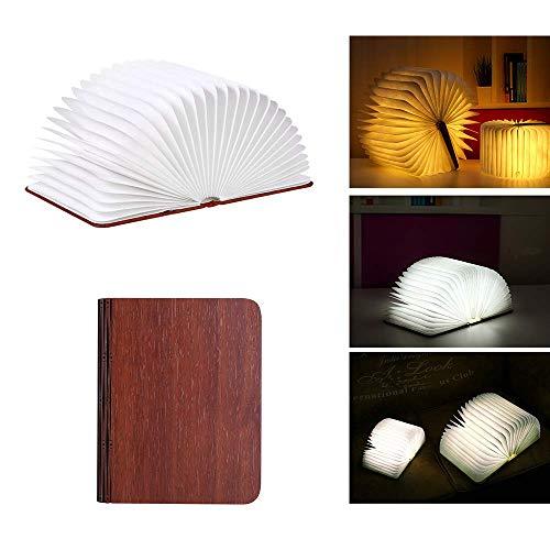 GYC Lámpara de Libro Plegable, luz de Noche de Escritorio portátil, Libro, Linterna de Papel LED, Recargable por USB, luz de Noche de Escritorio portátil