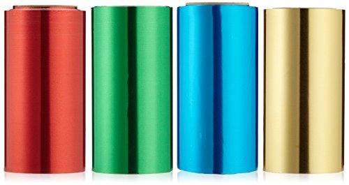 Efalock Professional Haarfolie, 20 my 12 cm x 50 m, rot/ grün/ blau/ gelb, 4 Stück, 1er Pack, (1x 4 Stück)